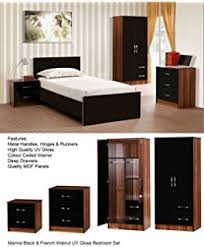 MARINA ULTRA HIGH GLOSS QUALITY  PIECE TRIO BEDROOM FURNITURE - Good quality bedroom furniture uk