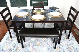 4 person table set 4 person 5 piece kitchen dining table set 1 3 leather espresso
