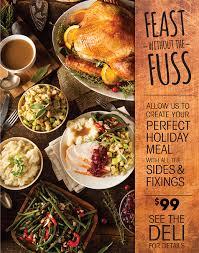 fresh market thanksgiving dinner for only 99