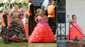 hot momma gowns behold astounding camo and hot pink gowns at june s wedding