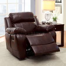 reclining sofa cm6312 in brown leather match w options