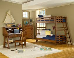 woodcrafters heartland collection bunk bedroom set in spice brown
