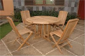 Butterfly Folding Table And Chairs Anderson Round Butterfly Teak Folding Table Comfort Chair Set 34