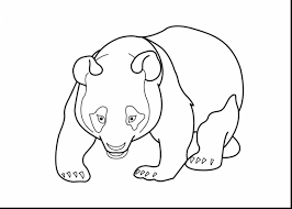wonderful panda bear coloring pages printable with panda bear