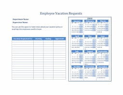 19 vacation request template 7 sick leave application format