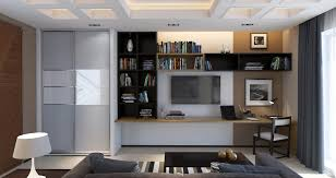 3d design study room in a contemporary style
