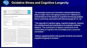 oxidative stress and cognitive longevity ppt download