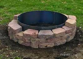 Firepit Liner Pit Block Steel Liners Steel Pit Ring Liners Higley