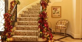 Decorating Banisters For Christmas Christmas Decor Ideas For Stairs Modern Home Decor