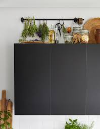 how to use the tops of kitchen cabinets