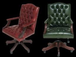 fauteuil de bureau vert fauteuil de bureau anglais gainsborough longfield 1880