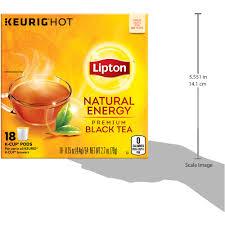 lipton natural energy tea k cups pods 15 oz 18 count walmart com