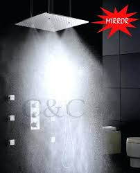 Ceiling Mounted Rain Shower by Shower Head Mirror U2013 Lendsmart Co