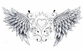 devil angel broken heart tattoo design in 2017 real photo