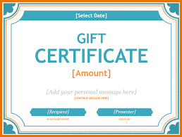 7 microsoft word gift certificate template itinerary template