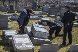 headstones nj headstones reportedly knocked at cemetery in