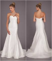 silk fit and flare wedding dress wedding dresses 1000