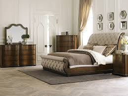 bed wood and upholstered headboards king size bed bedroom