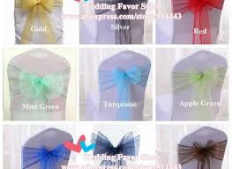 mint chair sashes 100pcs blue satin chair sashes satin chair cover bow ties
