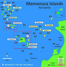fiji resort map map of mamanuca islands in fiji islands showing hotel locations