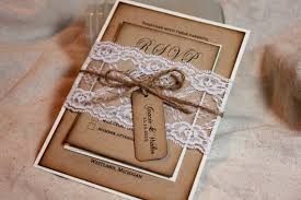 rustic invitations rustic wedding invitation set lace and kraft rustic wedding