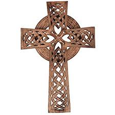 wooden celtic cross olive wood celtic cross 10 inches home kitchen