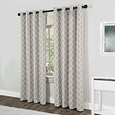 Grey And White Curtain Panels Amazon Com Exclusive Home Curtains Baroque Textured Linen Look