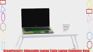 greenforest adjustable laptop table laptop computer desk portable