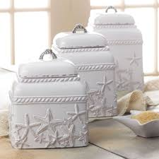 starfish canister set food storage kitchen canister kitchen