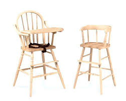 Unfinished Dining Chairs Toddler Dining Chair Wood High Chair Toddler Chair From Unfinished