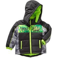 teenage mutant ninja turtles toddler boy hooded puffer jacket