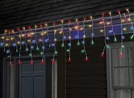 Multi Color Icicle Lights Sylvania V41229 71 Twinkle Tech Icicle Lights With Remote Multicolor