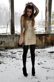 gold dresses for new years gold dress black tights awesome party hotttt