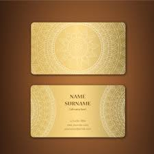 golden business card design vector free