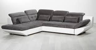 canapé d angle blanc et gris canapé d angle eternity blanc gris sb meubles discount