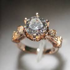 luxury gold rings images Beautiful israel design diamond rings luxury design 18k rose gold jpg