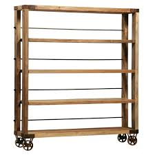 unique reclaimed wood bookcase doherty house wrought iron