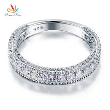 peacock star solid 925 sterling silver wedding band eternity ring
