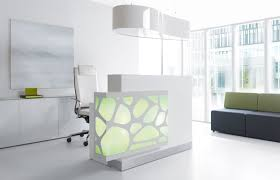High End Reception Desks Simple Understated Elegance This Organic Style Reception Desk