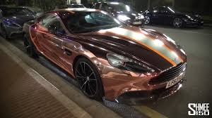 gold and black ferrari aston martin vanquish crazy gold and black wrap youtube