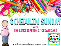 schedulin u0027 sunday chicka chicka boom boom the kindergarten