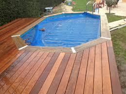 amenagement autour piscine hors sol plage de piscine pour piscine hors sol en bois exotique itauba à