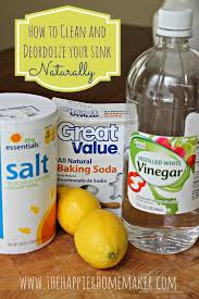 Clean And Deodorize Your Sink Naturally The Happier Homemaker - Kitchen sink deodorizer