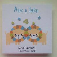 1st first birthday card grandson son nephew personalised handmade