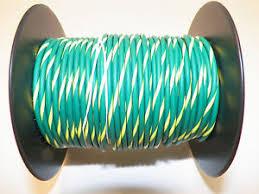 100 foot spool 18 gxl hi temp wire green yellow stripe