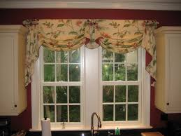 kitchen window valances ideas for kitchen awesome bay window kitchen curtains and window treatment