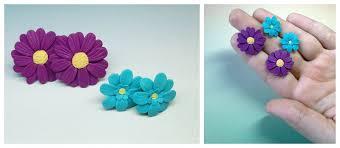 polymer clay stud earrings polymer clay stud flower earrings by prizvn on deviantart