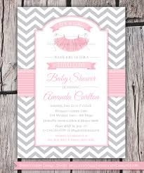 tutu cute baby shower invitation chevron by lemonadedesignstudio
