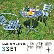 outside chair and table set sumica rakuten global market garden table set aluminum alloy