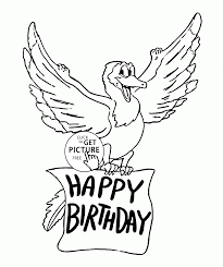 happy birthday funny dragon coloring page for kids holiday